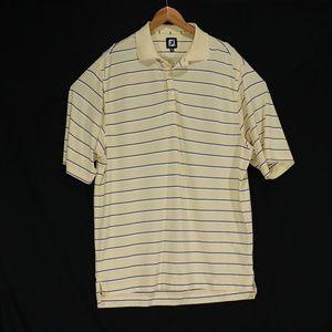 FootJoy Yellow Striped Golf Polo Shirt